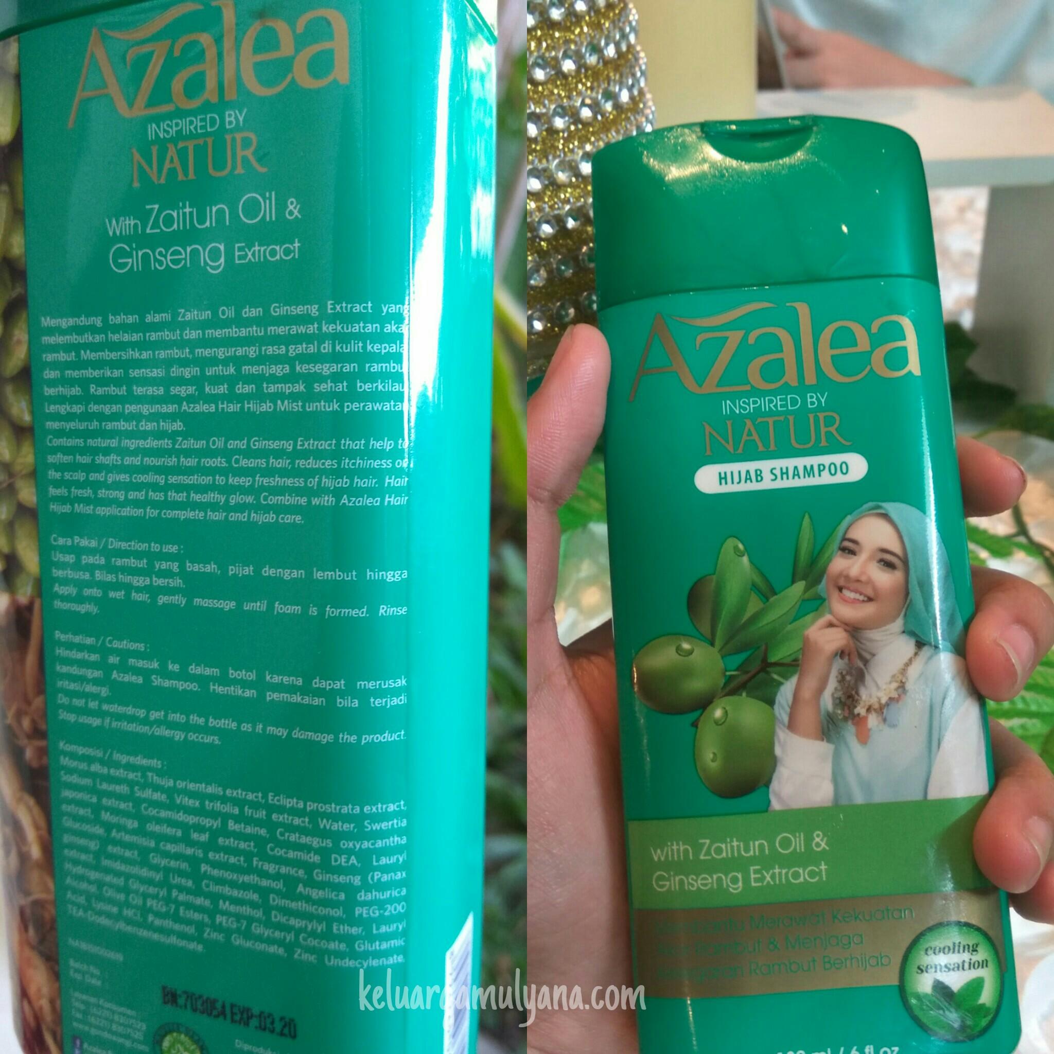 Azalea Hijab Shampoo kandungan